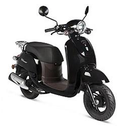 zwarte scooter